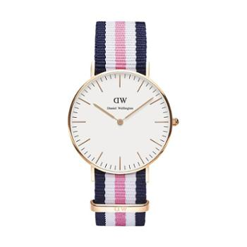 Daniel Wellington DW女表 36mm白盘金边尼龙带 0506DW(DW00100034)